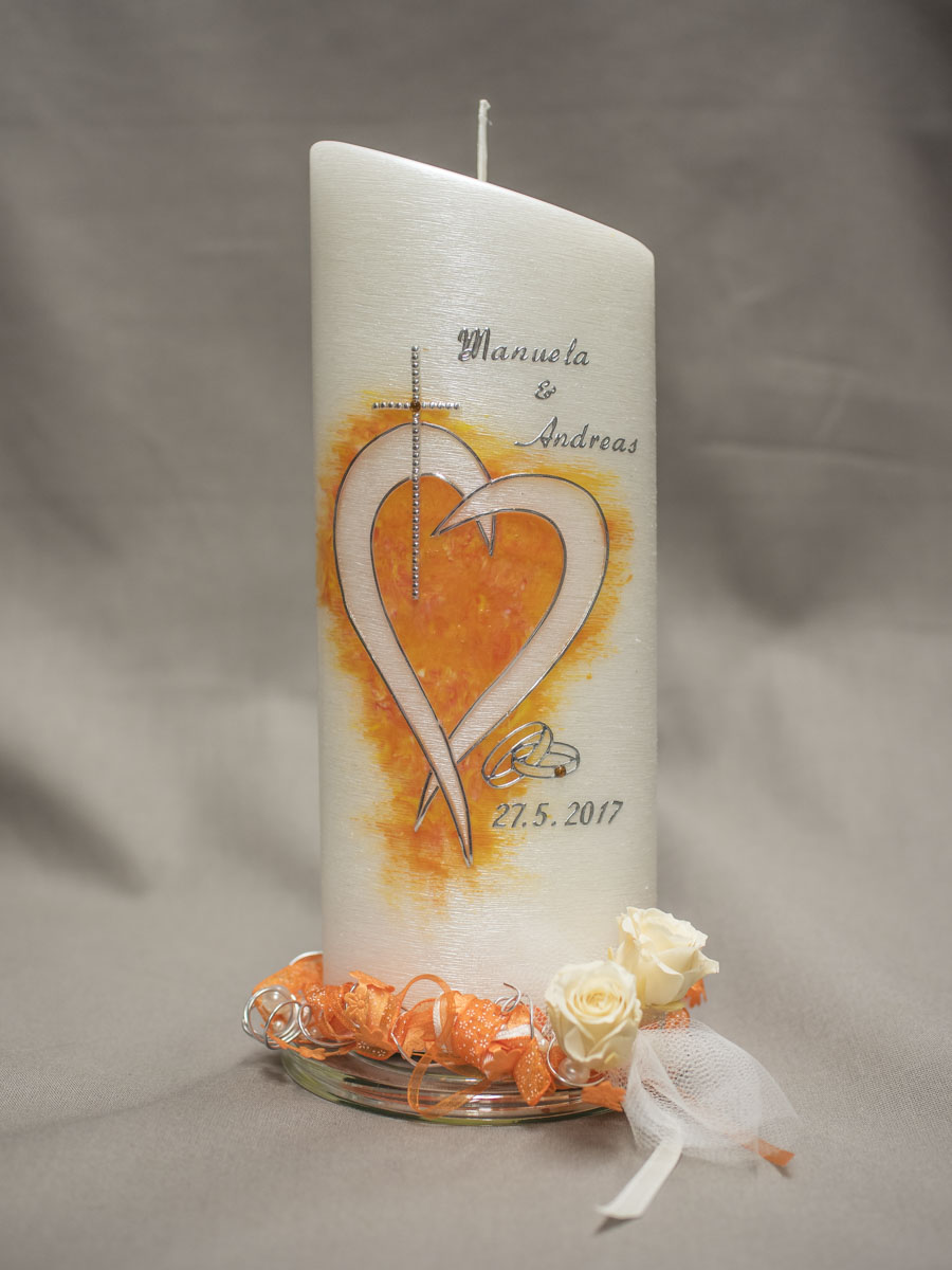 GSemmernegg - Hochzeitskerze, schräg Herz